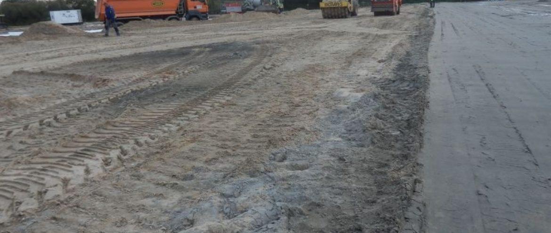 Budowa parkingu buforowego dla samochodów ciężarowych w Dorohusku
