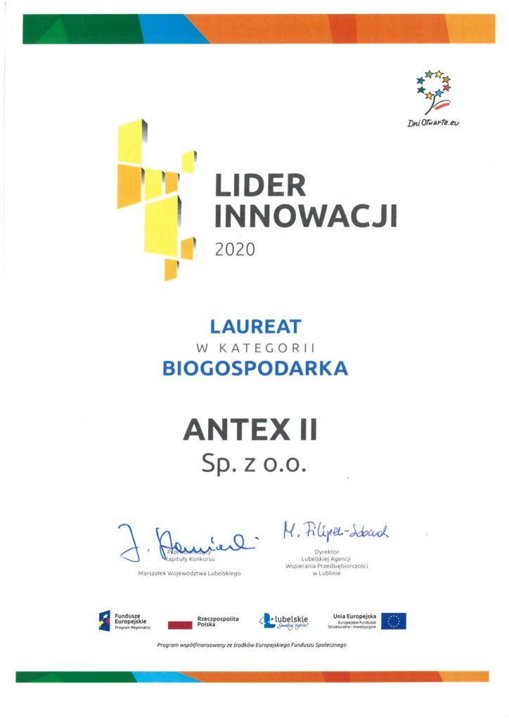 antex II lider innowacji